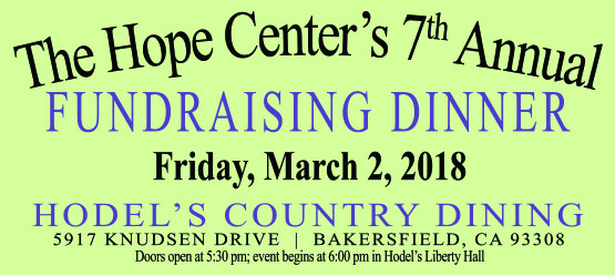 Annual Hope Center Fundraising Banquet